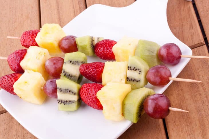 Brocheta de frutas 3